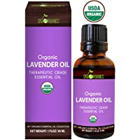 Lavender Essential Oil By Sky Organics-100% Pure Therapeutic French Lavender Oil For Diffuser, Aromatherapy, Headache, Pain, Meditation, Anxiety, Sleep-Perfect For Candles & Massage 1oz