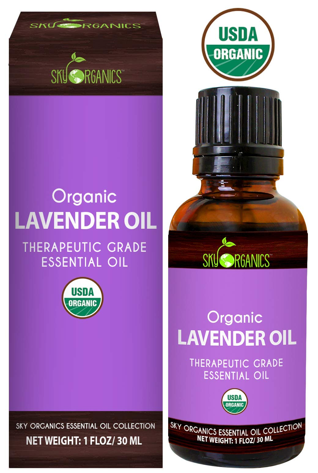 Lavender Essential Oil By Sky Organics-100% Pure Therapeutic French Lavender Oil For Diffuser, Aromatherapy, Headache, Pain, Meditation, Anxiety, Sleep-Perfect For Candles & Massage 1oz by Sky Organics