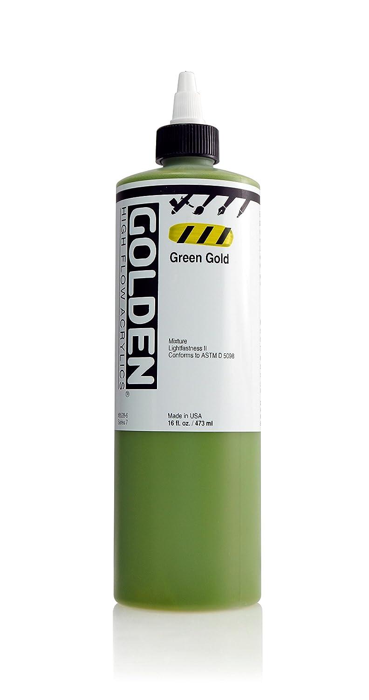 Golden Acrylics高フロー 16 oz cylinder GD8528-6 B011M1QCLQ 16 oz cylinder|Green Gold Green Gold 16 oz cylinder