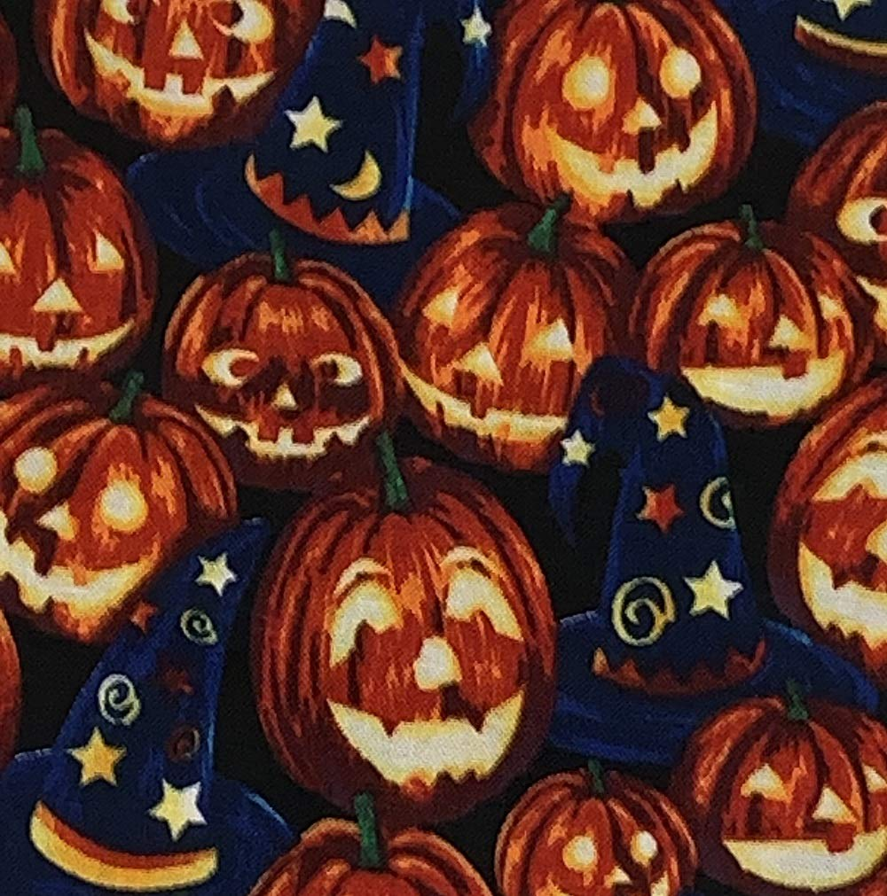 Medium Pumpkins and Wizard Hats Dog Bandana