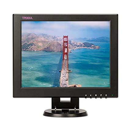 "TPEKKA 12"" Inch Square CCTV Monitor Mini Portable TFT LCD 4:3/16"