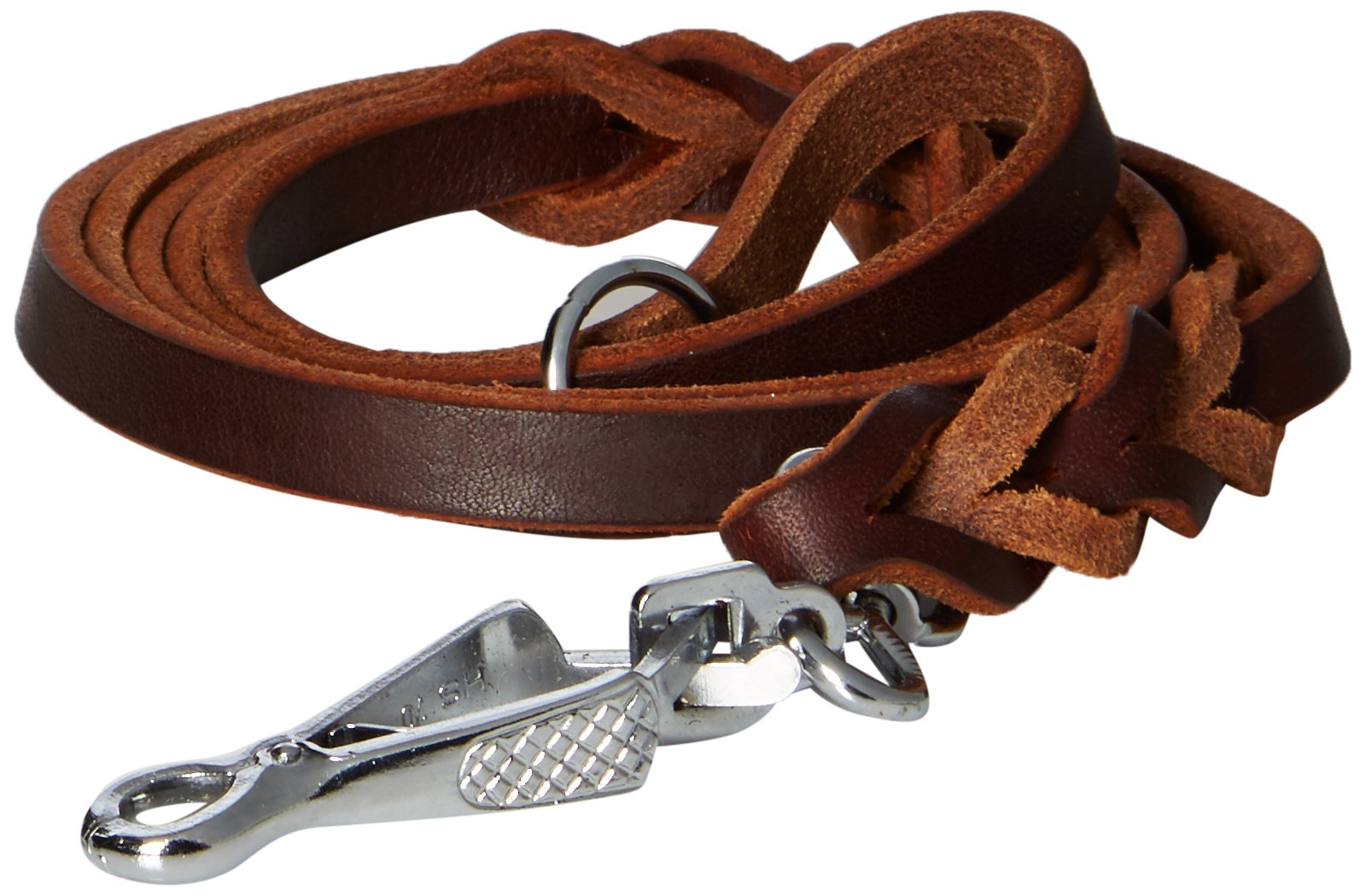 Dean & Tyler Nocturne Dog Leash with Stainless Steel Ring on Handle and Herm Sprenger Snap Hook, 5-Feet by 1/2-Inch, Brown