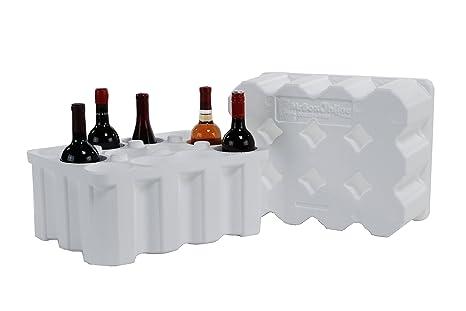 Amazon.com: 12 botellas de vino de poliestireno expedidor ...