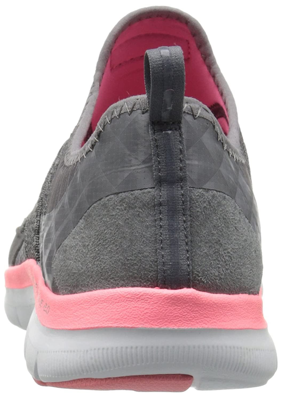 Skechers Sport Women's Flex Appeal 2.0 New Image Fashion Sneaker B01AHK4HL0 5 B(M) US|Charcoal/Coral