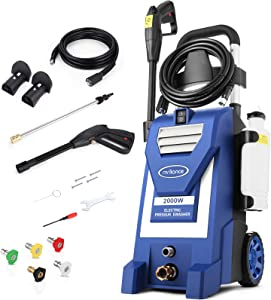 Mrliance 3800PSI Electric Pressure Washer ,3.0GPM Electric Power Washer with 5 Nozzles, 2000W High Pressure Washer Perfect for Cleaning Cars Houses Driveways Fences Patios Garden (Blue)