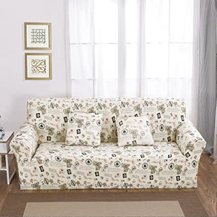 Stretch Sofa Cover ,Floral Printed Couch Covers , Anti Slip Anti Wrinkle 1/