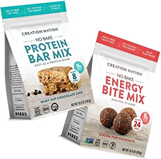 product image for Keto Protein Bar & Energy Bite Mix, No-bake & easy as a protein shake! Makes 48 Protein Balls. Perfect Snack for Keto, Paleo Friendly, Gluten & Grain Free, Kids & Adults. 2-Pack Bundle