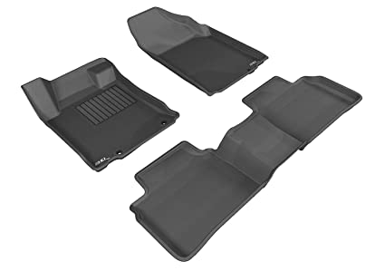 3D MAXpider Complete Set Custom Fit All-Weather Floor Mat for Select Nissan Altima Models