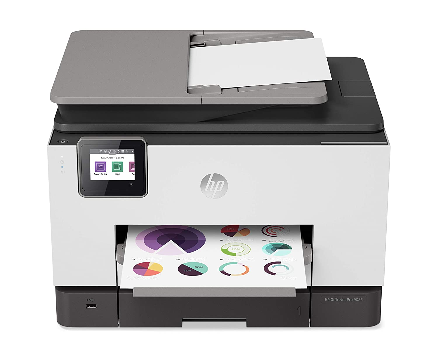 HP OfficeJet Pro 9020 All-in-One Wireless Printer, with Smart Tasks &  Advanced Scan Solutions for Smart Office Productivity (1MR78A)