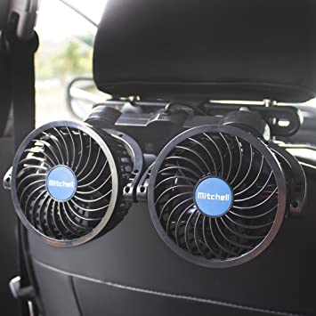 Car Fan Truck 12V Cooling Fan Protable Auto Fan 360 Rotating Air Cooling RV SUV