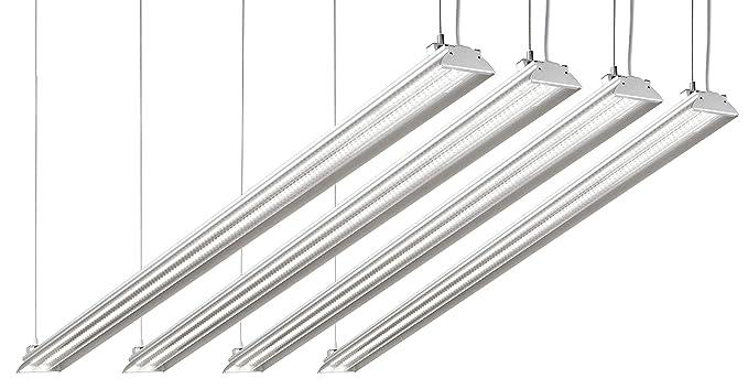 Hyperikon 4 Foot LED Shop Light, 100 Watt (35W), Shop and Garage Lighting,  5000K Crystal White, Clear, 4 Pack