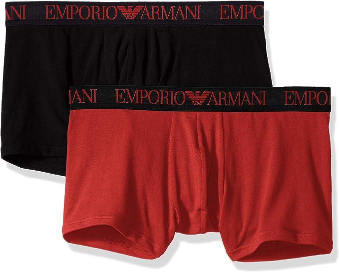 Emporio Armani Endurance BI-Pack Trunk Black/Ruby: Amazon.es: Ropa y accesorios
