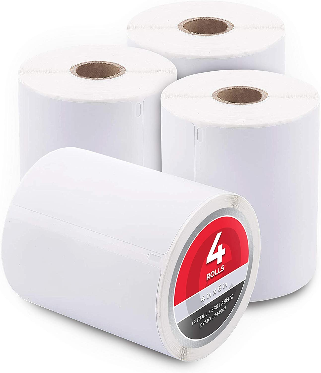 4 Rolls 4x6 Direct Thermal Shipping Labels Zebra 2844 ZP450 Eltron 350//roll