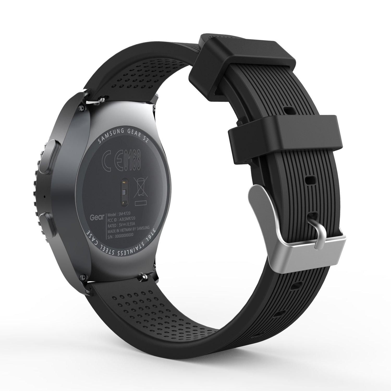 MoKo Gear S2 Classic Correa del Reloj, Reemplazo Silicona Deportiva WatchBand para Garmin Vivoactive 3/Samsung Galaxy Watch 42mm/Galaxy Watch ...
