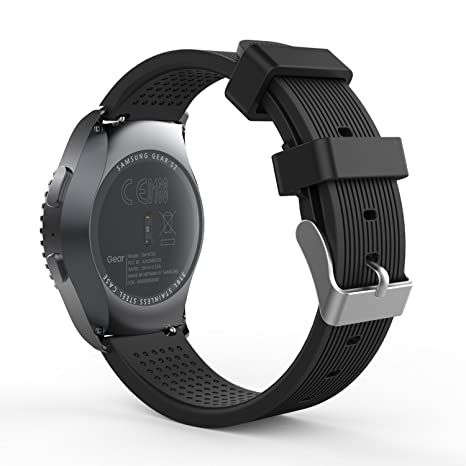 MoKo Bracelet en Silicone Souple pour Samsung Gear S2 Classic SM-R732/ Garmin Vivoactive