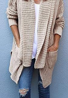 46a97a5193fa Amazon.com  Marysay Womens Long Sleeve Open Front Chunky Warm ...