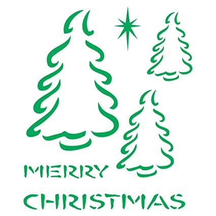 amazon com christmas trees stencil size 5 w x 6 h reusable