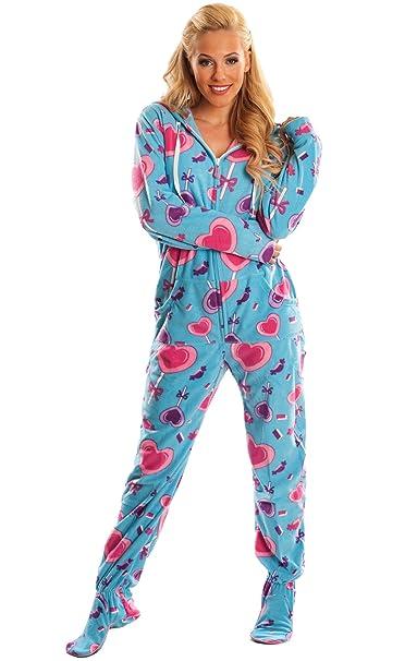 24f08cd51fda Amazon.com  Blue Lollipops Adult Onesie Pajamas (X-Large)  Clothing