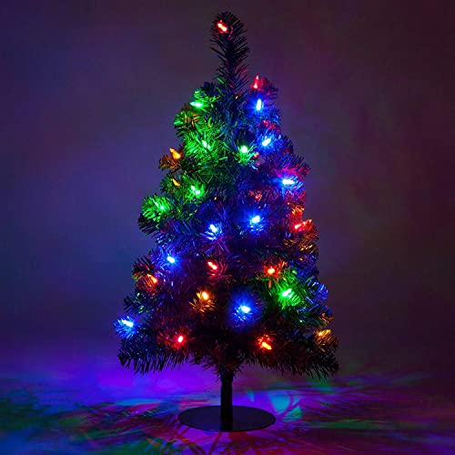 Red Sleigh 2 ft Christmas Tree Tabletop Christmas Tree Christmas Decorations Outdoor LED Christmas Tree Small Christmas Pathway Lights 50 Multicolor LED Lights