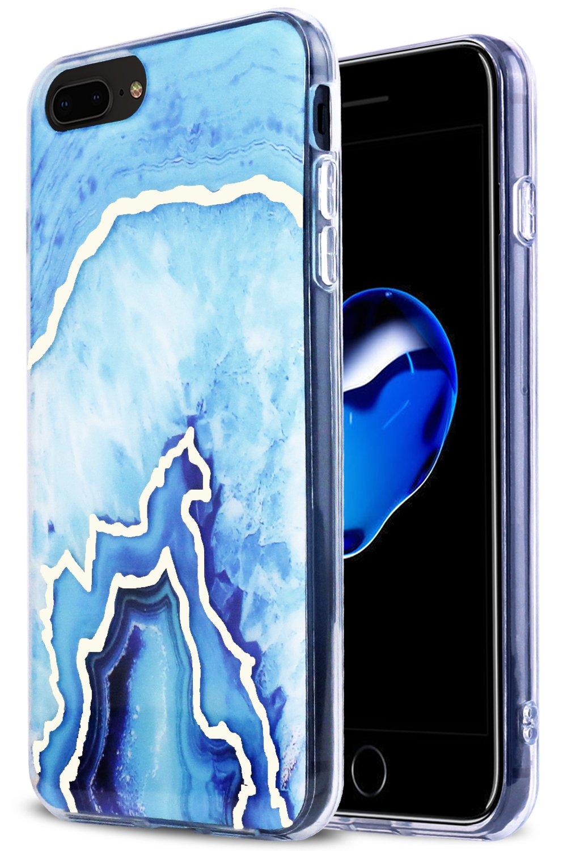 new style 8558d 5810e Amazon.com: iPhone 7 Plus Case, iPhone 8 Plus Case Agate Marble ...
