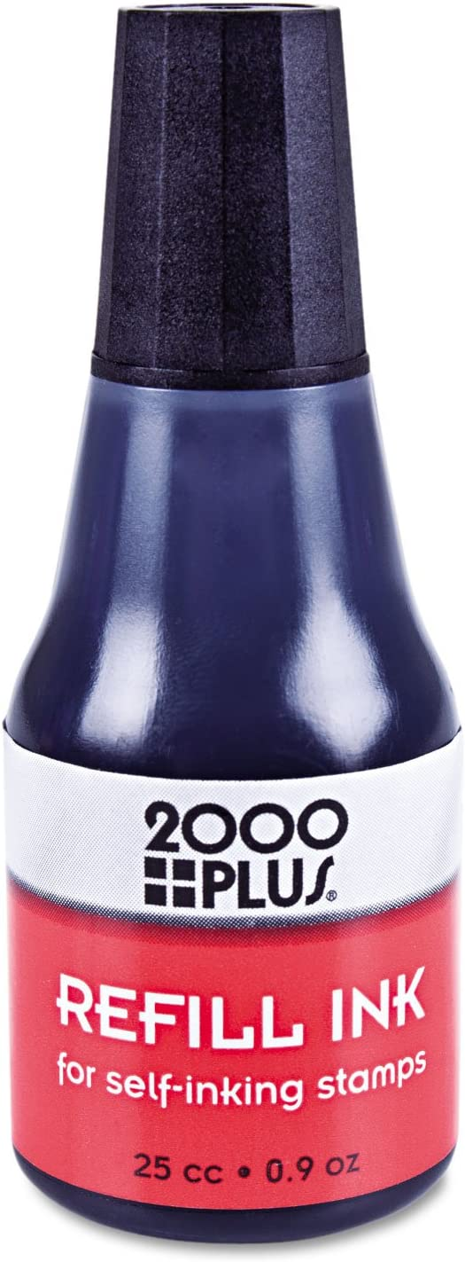 2000 Plus 032962 Self-Inking Refill Ink, Black, 0.9 oz. Bottle