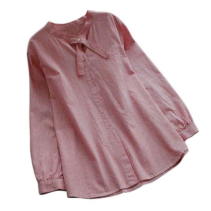 Blusas para Mujeres, Clásico Colores Sólidos Raya Estampado Floral ...