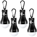 DealBang Compact LED Camping Light Bulbs with Clip Hook,150 Lumens LED Portable Hanging Battery Powered Tent Lights for Campi