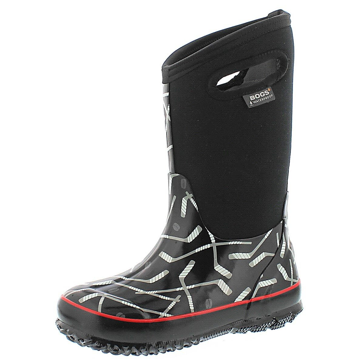 Bogs Boys' Classic Hockey Tall Waterproof Boot