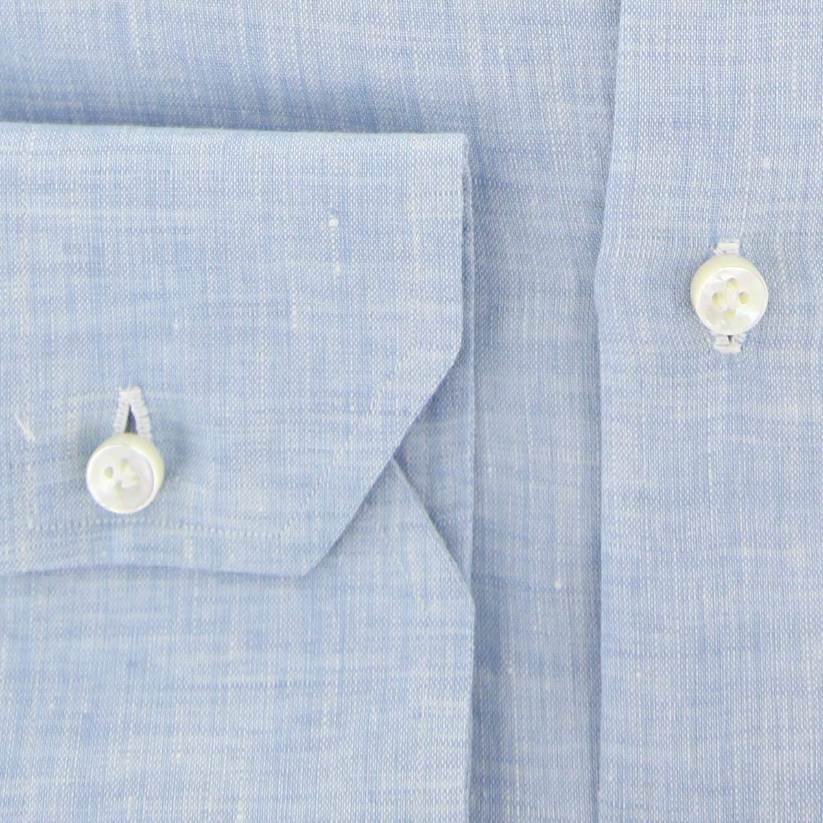 Brooks Brothers Luxury Fashion Mens 29343AZZURRO Light Blue Shirt Season Permanent