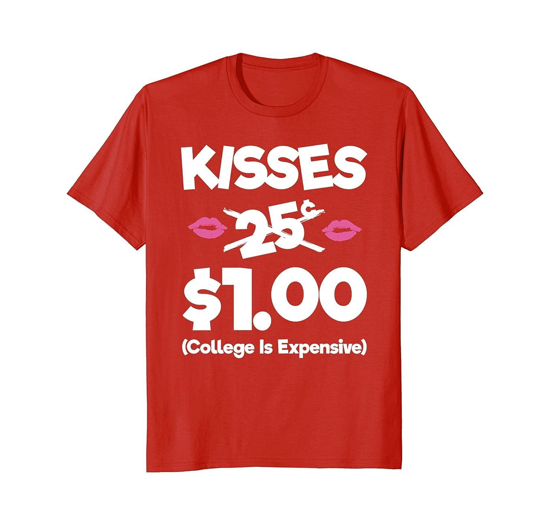 Kisses Cents Valentines TShirt Cranberry