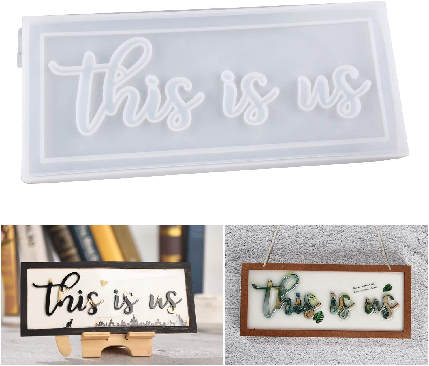LET'S RESIN Word Sign Molds-This is us Sign Molds, Silicone Resin Molds Casting Epoxy Resin Molds to Indoor/Home Decor, Home Sign/Wall Art/Wall Hanging