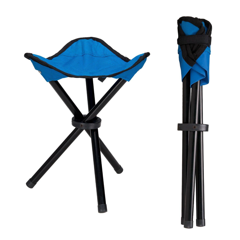 lysportアウトドア三脚スツールポータブル折りたたみ式Small 3-leggedキャンバス椅子キャンプハイキング釣りピクニックビーチBBQ旅行バックGarden Seat B073LCT1GR