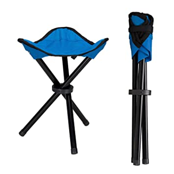 Perfect Lysport Outdoor Tripod Stool Portable Foldable Small 3 Legged Canvas Chair  For Hiking Camping Fishing