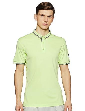 adidas Pique Polo de Tenis, Hombre, Amarillo (seamhe), XS: Amazon ...