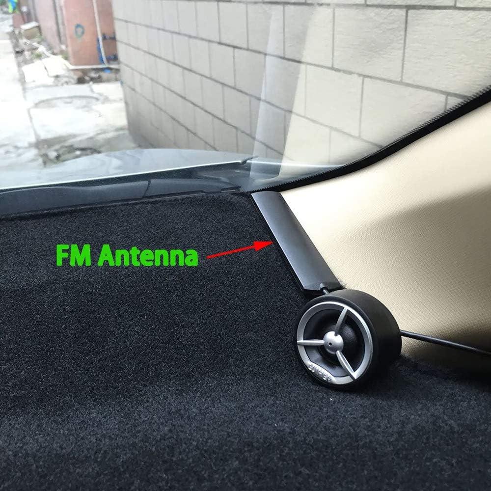 Bolatus Universel Voiture Automatique FM Antenne Dab Amplificateur SMA dantenne v/éhicules /à Moteur GSM de Voiture Antenne Pare Brise P/âte 5M C/âble ANT-309 Antenne Autoradio