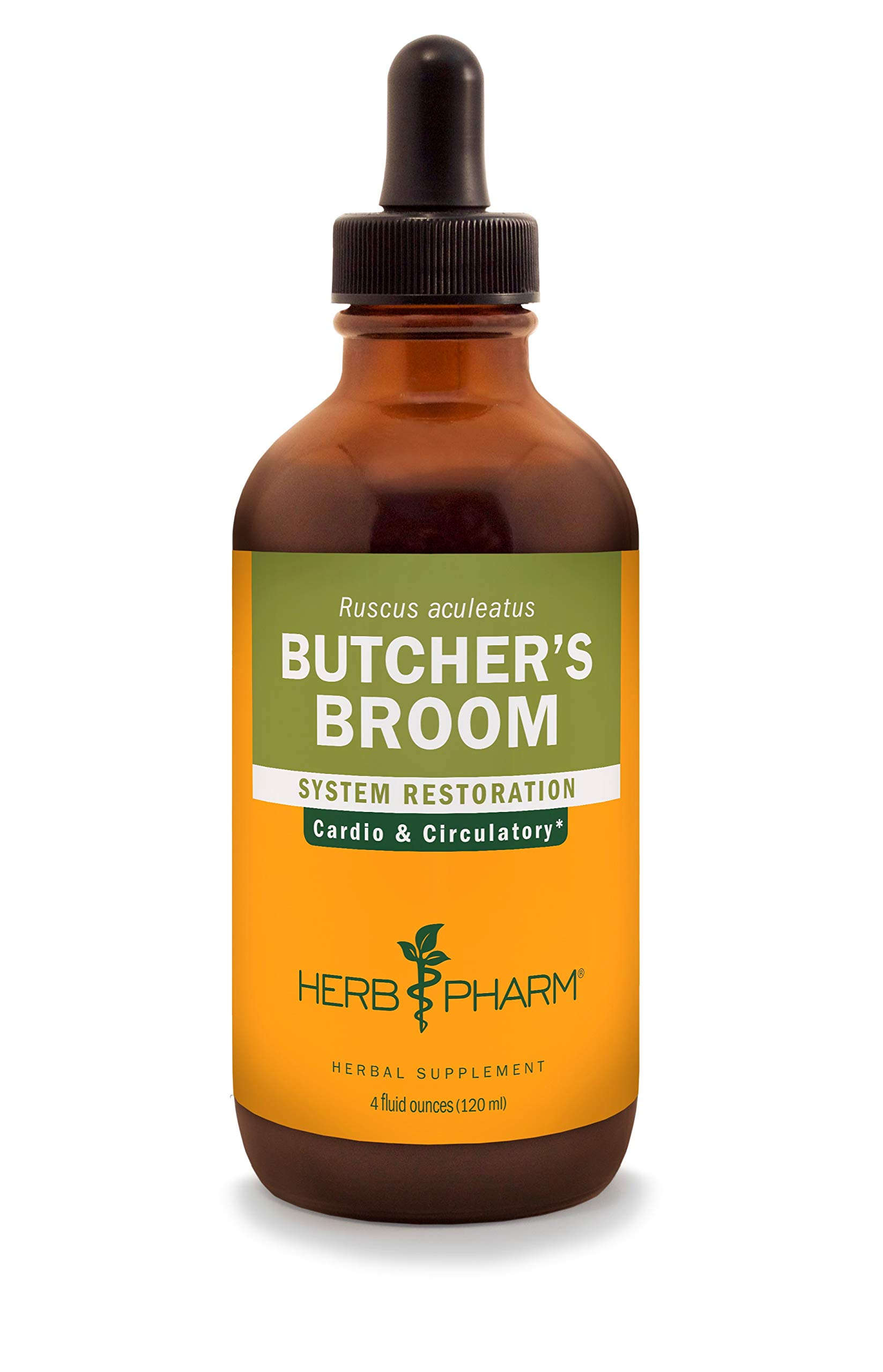 Herb Pharm Butcher's Broom Liquid Extract for Cardiovascular and Circulatory Support - 4 Ounce