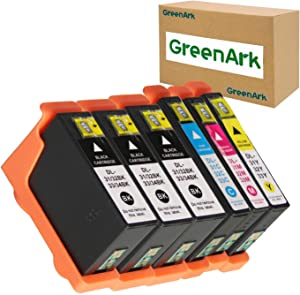 GREENARK Compatible for Dell Series 31 32 33 Ink Cartridges Use with Dell V525w, V725w All-in-One Printers (3 Black, 1 Cyan, 1 Magenta, 1 Yellow) 6 Pack for Dell 31 32 33 Black & Color Ink Cartridges