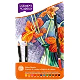 Derwent 2301937 Academy Colouring Pencils Tin - Set of 12