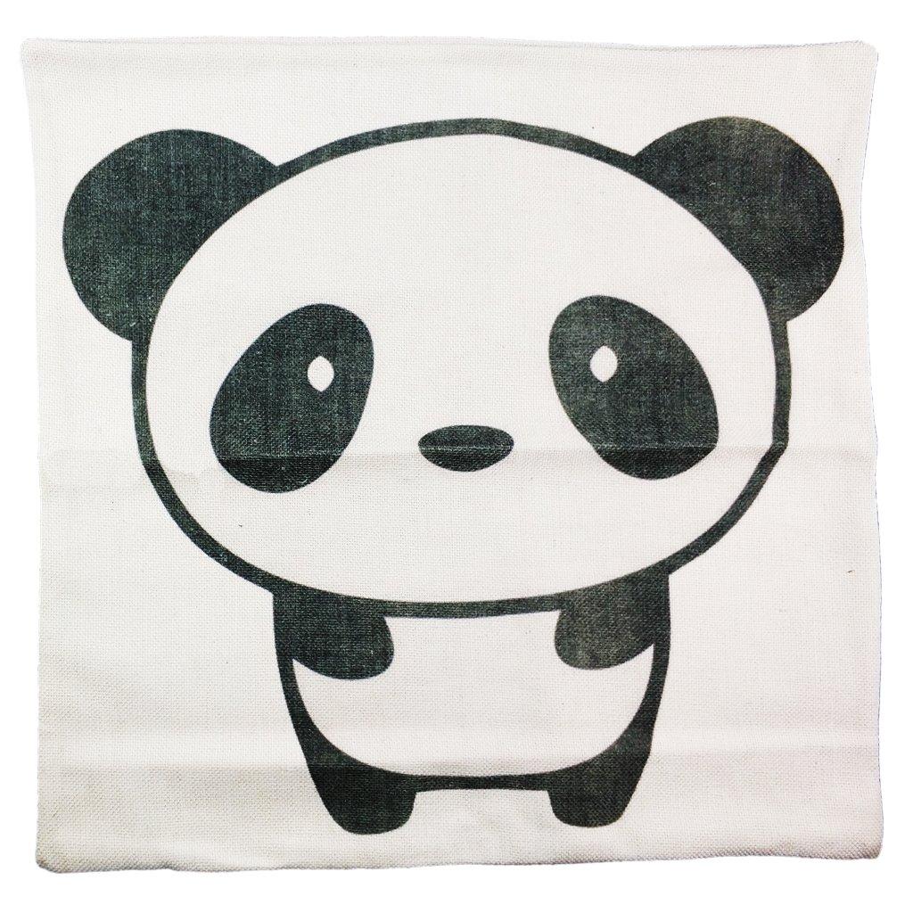 18 x 45,72 cm funda de almohada de algodón y lino de Panda ...