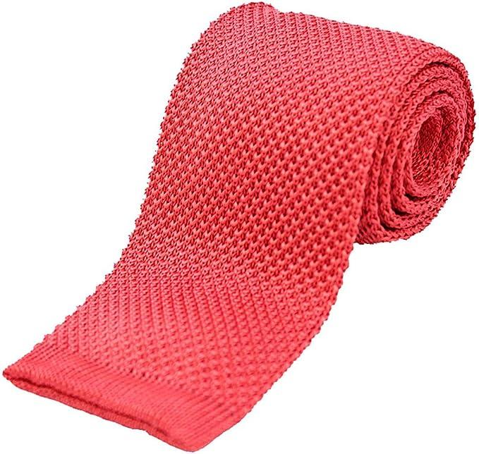 Soprano Plain Coral rosa de punto seda corbata: Amazon.es: Ropa y ...
