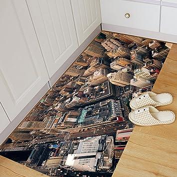 KKYLOVEJ New York Manhattan 3D Bodenfliesen Aufkleber Individualität  Dekorativ Umweltfreundlich PVC Abziehbilder Zum Badezimmer Schlafzimmer  Eingang