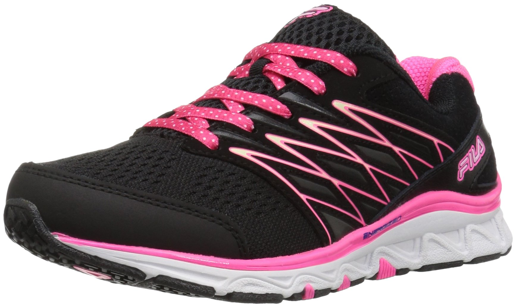 Fila Girls' Gallactic Skate Shoe, Black/Knockout Pink/Cotton Candy, 13 M US Little Kid