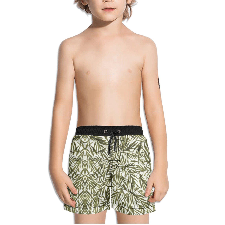 Ouxioaz Boys Swim Trunk Palm Leafs Leaves Beach Board Shorts