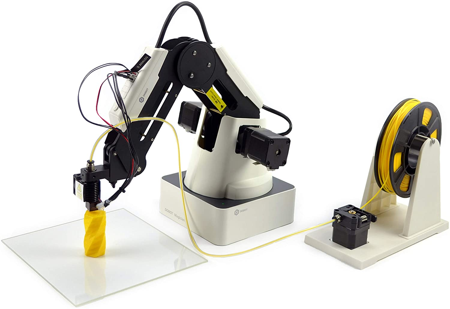 4-axis Robot Arm with 3D Printer DOBOT Magician Educational Programming Robot Gripper Heads for K12 or STEAM Education Pen Holder Suction Cap Laser Engraver Educational Version