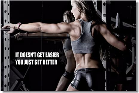Amazon Com 1x Poster Fabric Bodybuilding Men Girl Fitness Workout Quotes Motivational Inspiration Muscle Gym Font 35 5x23 5 90x60cm 017 Posters Prints
