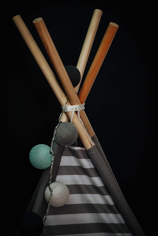 BabyCo Teepee 100/% Cotton Play Tent Teepee Tent Wigwam Playhouse Organic Cotton Teepee Tipi Indian Teepee Monochrome Stripes Teepee Tee Pee