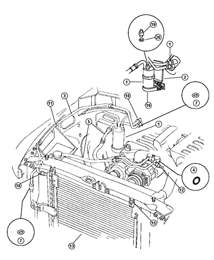 Amazon Com Mopar 55055835ab Ac Refrigerant Liquid Hose Automotive