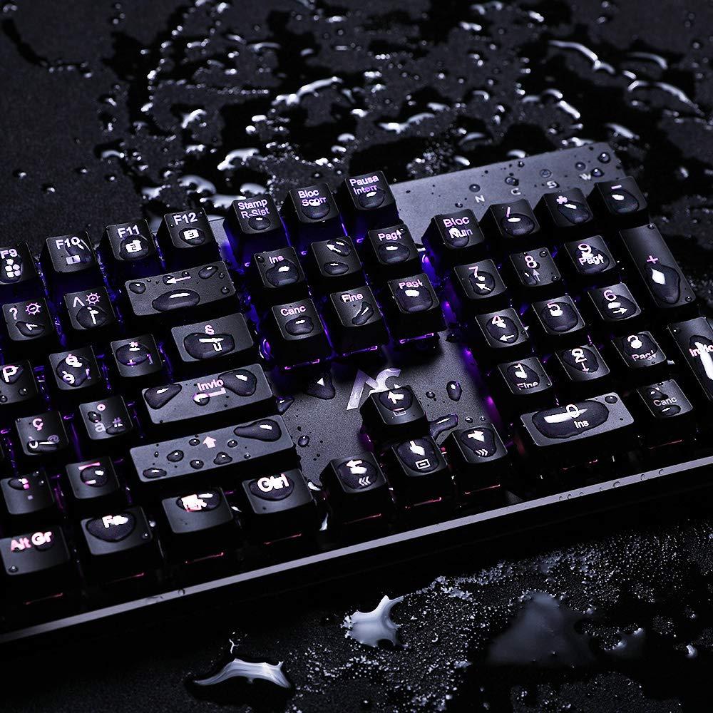 ACGAM-2019-Nouveau Fran/çais RGB Clavier Chroma Mechanical Keyboard Clavier de Jeu M/écanique avec Touches Opto-M/écaniques Marco Keys Brown Switch//Anti-fant/ômes//RGB R/étro-/éclair//Imperm/éable pour Gamers