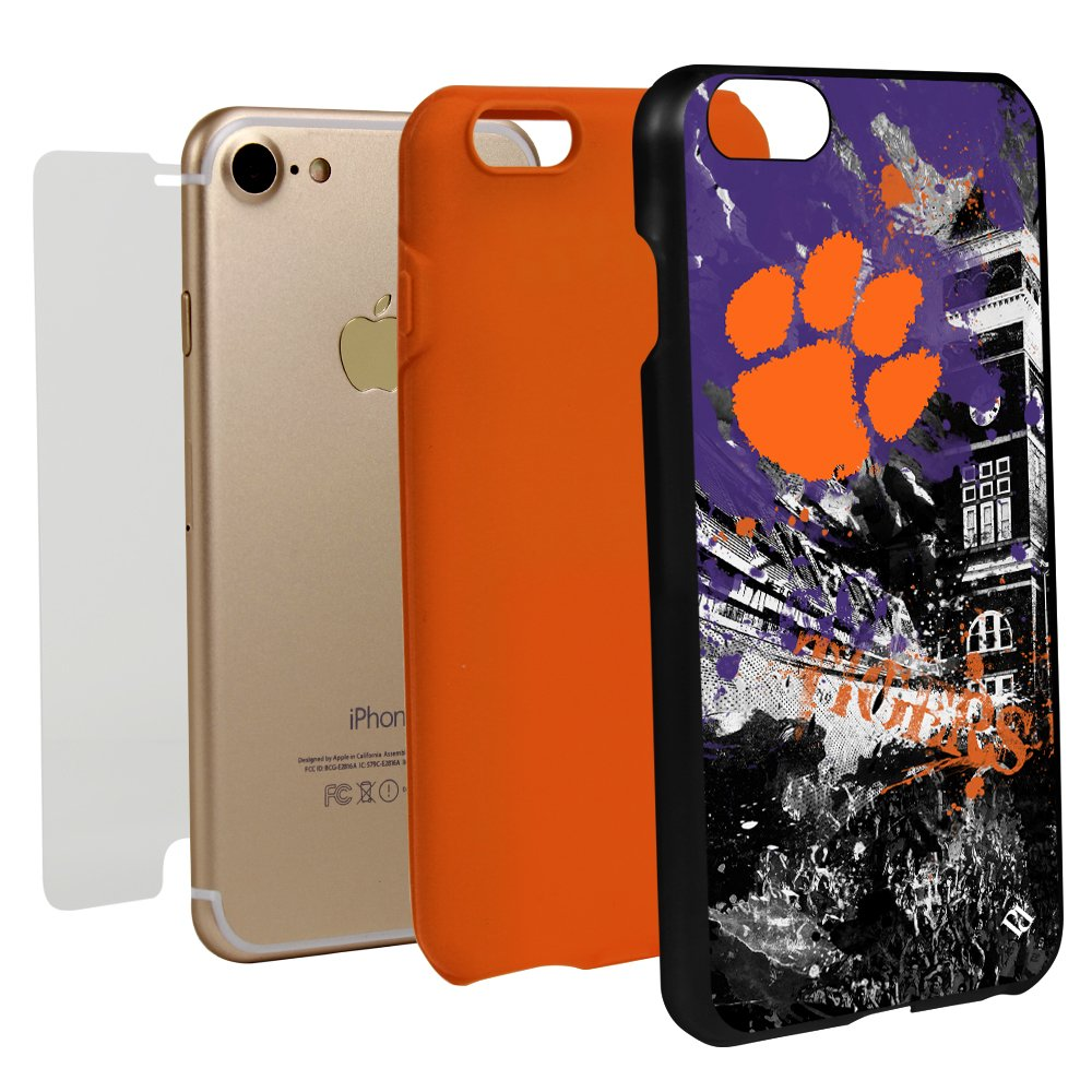 Guard Dog Clemson Tigers Paulson Designs Spirit Case for iPhone 7/8 with Guard Glass Screen Protector by Guard Dog