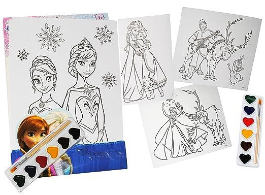Malset / Zeichenset - Disney die Eiskönigin - mit 6 Wasserfarben + ...